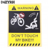 "Наклейка ""Don`t touch my bike !!!"""