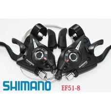 Манетки с тормозными ручками Shimano Tourney ST-EF51-8