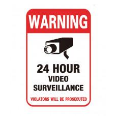 Наклейка предупреждение о видеонаблюдении