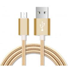 Кабель USB - microUSB, Lightning, Type C в оплётке