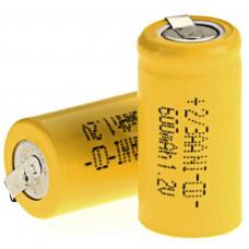 Аккумуляторы 2/3 AA 600mah 1.2v